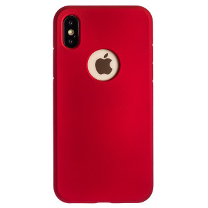 Husa Silicon Slim iPhone X/XS, Rosu