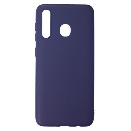 Husa Silicon Slim Samsung Galaxy A20/A30, Albastru Mat