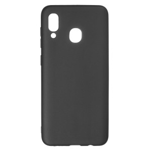 Husa Silicon Slim Samsung Galaxy A30,  Negru Mat