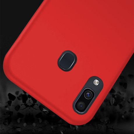 Husa Silicon Slim Samsung Galaxy A30,  Rosu Mat