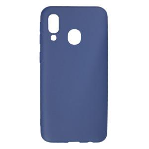 Husa Silicon Slim Samsung Galaxy A40, Albastru Mat
