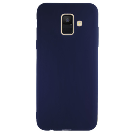 Husa silicon slim Samsung Galaxy A6 2018 Albastru mat