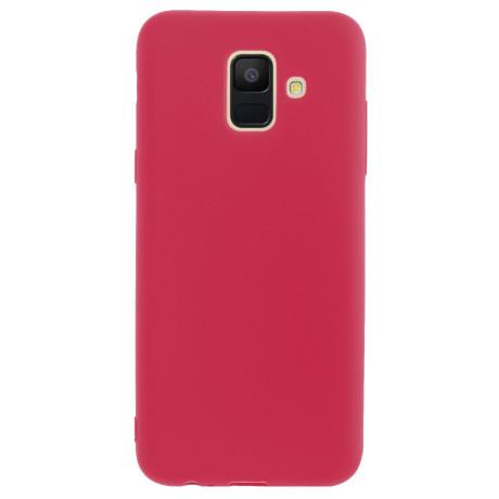 Husa silicon slim Samsung Galaxy A6 2018 Rosu mat