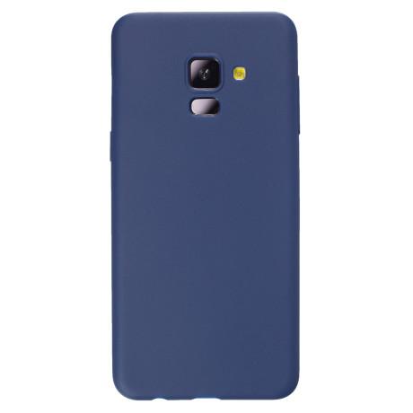 Husa silicon slim Samsung galaxy A8 2018 Albastru mat