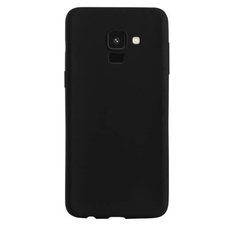 Husa silicon slim Samsung galaxy A8 2018 Contakt, Negru mat