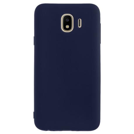 Husa silicon slim Samsung Galaxy J4 2018 Albastru mat