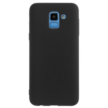 Husa silicon slim Samsung Galaxy J6 2018 Negru mat