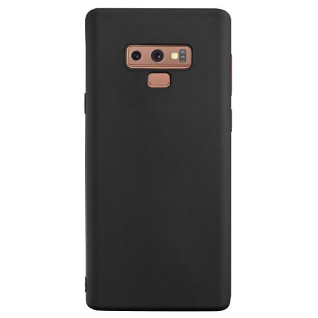 Husa silicon slim Samsung Galaxy Note 9, Contakt Negru mat