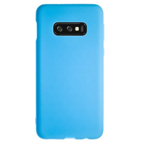 Husa Silicon Slim Samsung Galaxy S10 E, Albastru Mat