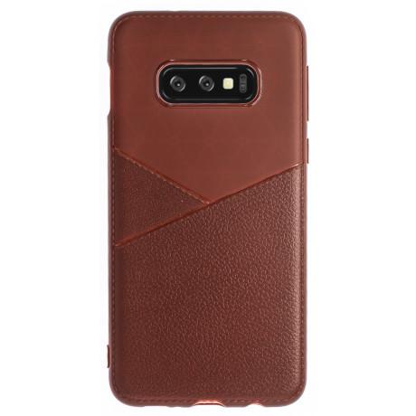 Husa Silicon Slim Samsung Galaxy S10 E, Maro Arm