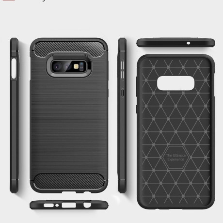Husa Silicon Slim Samsung Galaxy S10 E, Negru Carbon