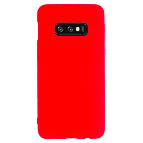 Husa Silicon Slim Samsung Galaxy S10 E, Rosu Mat