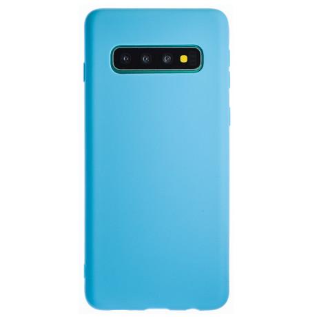 Husa Silicon Slim Samsung Galaxy S10 Plus, Albastru Mat