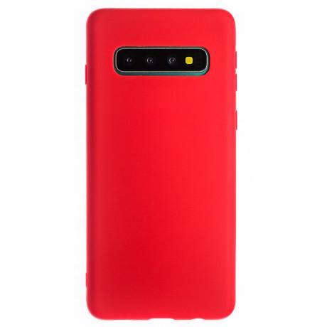Husa Silicon Slim Samsung Galaxy S10 Rosu Mat