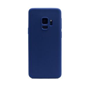 Husa silicon slim Samsung Galaxy S9, Contakt Albastru mat
