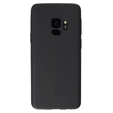 Husa silicon slim Samsung Galaxy S9, Contakt Negru Mat