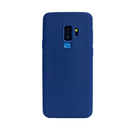 Husa silicon slim Samsung Galaxy S9 Plus, Contakt Albastru Mat