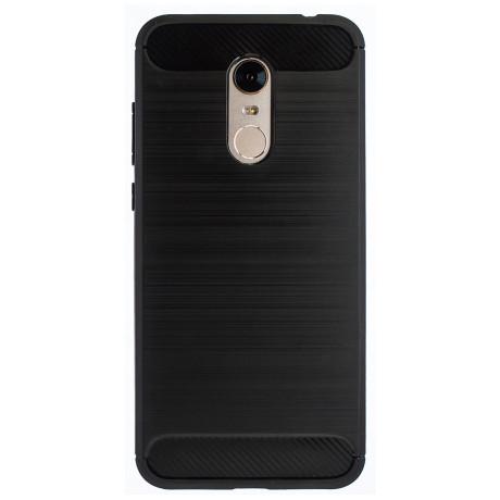 Husa Silicon Xiaomi Redmi 5 Plus, Negru Carbon