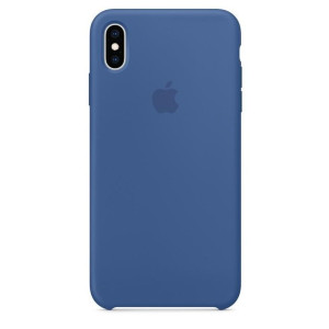 Husa Silicone Cover Apple pentru iPhone XS Max MVF62ZM/A Delft Blue