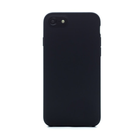 Husa spate + folie sticla iPhone 7/8/SE 2, Fun Neagra