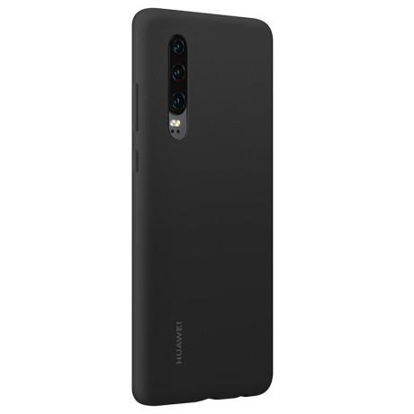 Husa Spate Huawei P30 Black Silicone Car Case