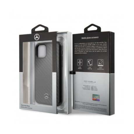 Husa spate iPhone 11 Pro Negru MEHCN58RCABK Carbn Mercedes