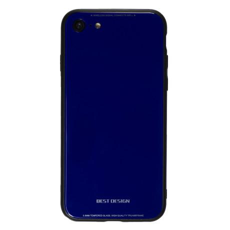 Husa Spate Oglinda iPhone 8/SE 2 Albastru