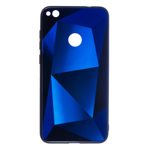 Husa Spate Oglinda Prism Huawei P8/P9 Lite 2017, Albastru