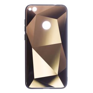Husa Spate Oglinda Prism Huawei P8/P9 Lite 2017, Auriu