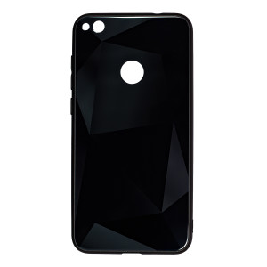 Husa Spate Oglinda Prism Huawei P8/P9 Lite 2017, Negru