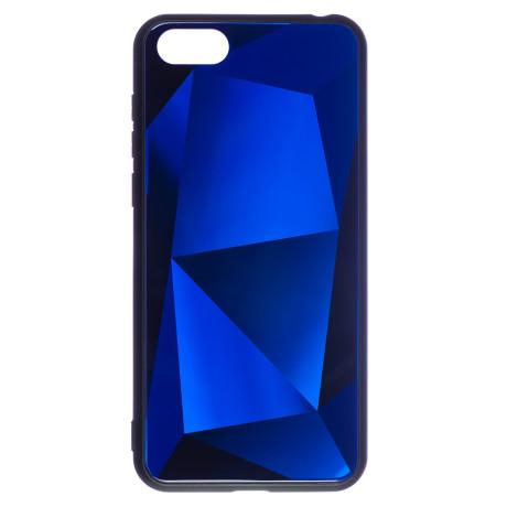 Husa Spate Oglinda Prism Huawei Y5 Prime 2018, Albastru