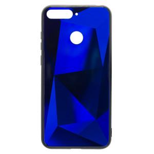 Husa Spate Oglinda Prism Huawei Y6 2018, Albastru