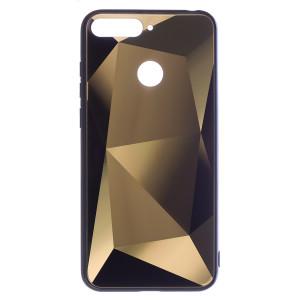 Husa Spate Oglinda Prism Huawei Y6 2018, Auriu