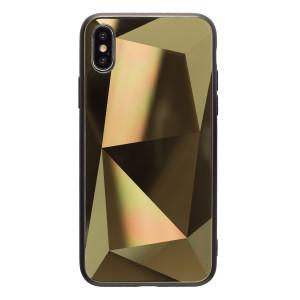 Husa Spate Oglinda Prism iPhone X/XS, Auriu