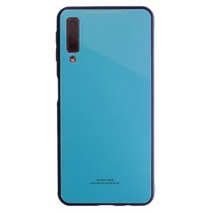 Husa Spate Oglinda Samsung Galaxy A7 2018, Albastru