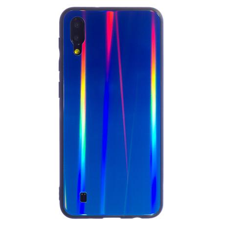 Husa Spate Oglinda Samsung Galaxy M10, Albastru