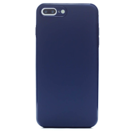 Husa spate silicon iPhone 7 Plus/8 Plus iShield Albastru Mat