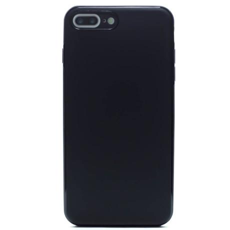 Husa spate silicon iPhone 7 Plus/8 Plus iShield Negru mat