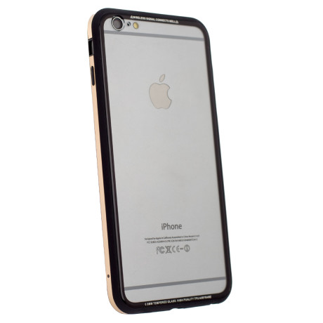Husa spate sticla iPhone 6 Plus iShield Rama Aurie