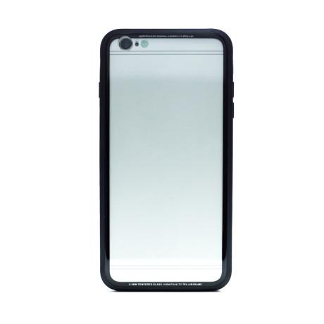 Husa spate sticla iPhone 6 Plus iShield Rama Rosie