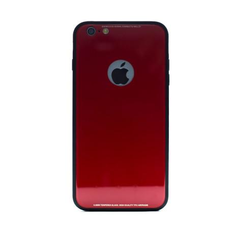 Husa spate sticla iPhone 6 Plus Rosu iShield