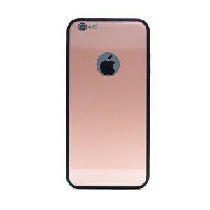 Husa spate sticla iPhone 6 Plus Roz iShield