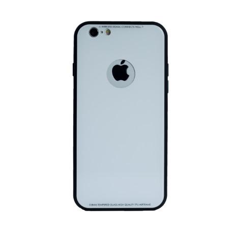Husa spate sticla iPhone 6/6S Alb iShield