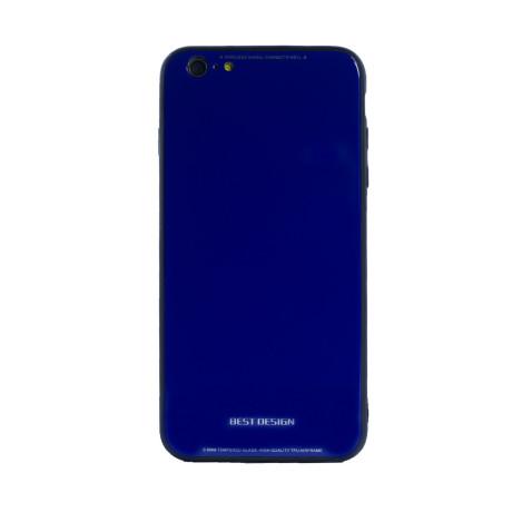 Husa spate sticla iPhone 6/6S Albastru