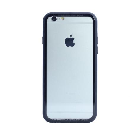 Husa spate sticla iPhone 6/6S iShield Rama Gri
