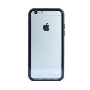 Husa spate sticla iPhone 6/6S iShield Rama Rosie