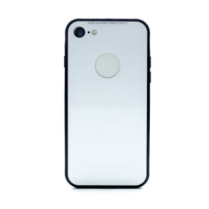 Husa spate sticla iPhone 7 Alb iShield