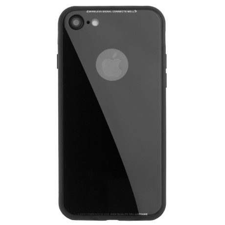Husa spate sticla iPhone 7 Negru iShield
