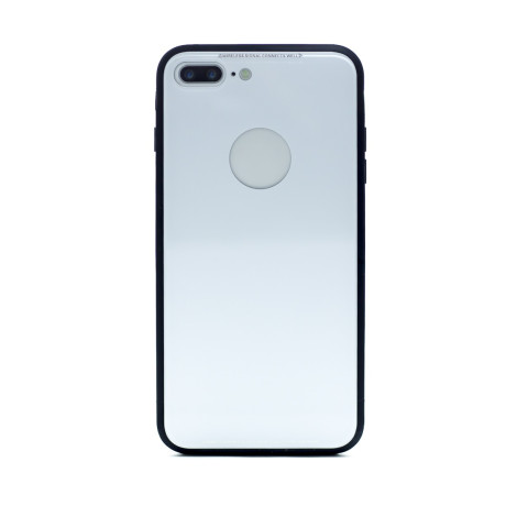 Husa spate sticla iPhone 7 Plus Alb iShield