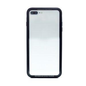 Husa spate sticla iPhone 7 Plus iShield Rama Gri
